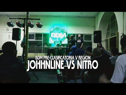 BDM - 1ra Pre-Clasificatoria BDM V Region / Valparaiso JOHHNLINE VS NITRO GANADOR: NITRO http://www.batallademaestros.cl.