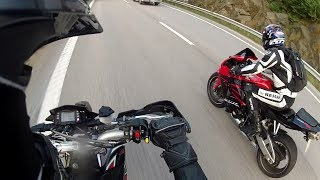 2. Aprilia SXV 550 vs Honda CBR 600RR - Top Speed Power Wheelie 0-180km/h