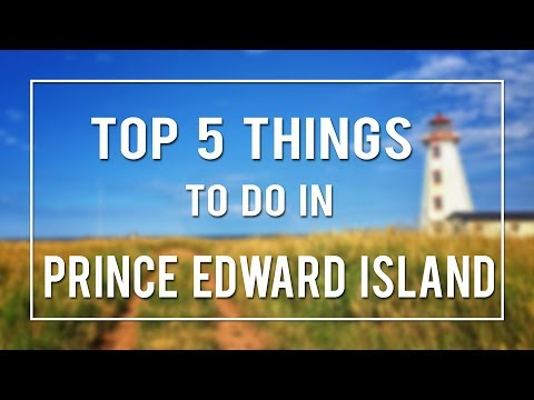 TOP 5 THINGS TO DO IN PRINCE EDWARD ISLAND!