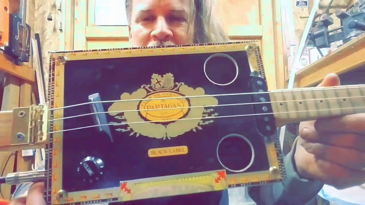 Acoustic/Electric Cigar Box Guitar with Single Coil