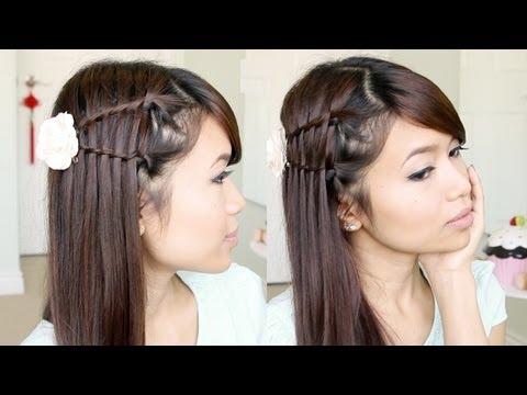 Double Waterfall Twist Hairstyle for Medium Long  Hair Tutorial – Bebexo