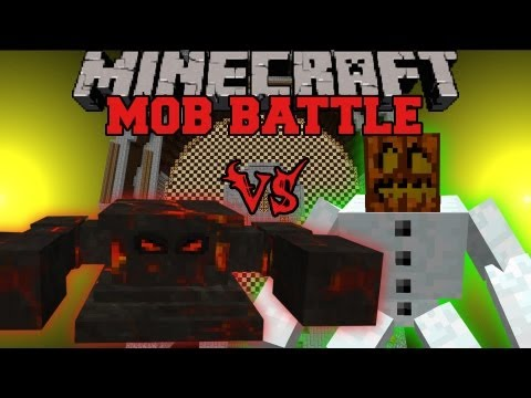 Sun Boss Vs. Mutant Snow Golem - Minecraft Mob Battles - Sun's Sun Mod