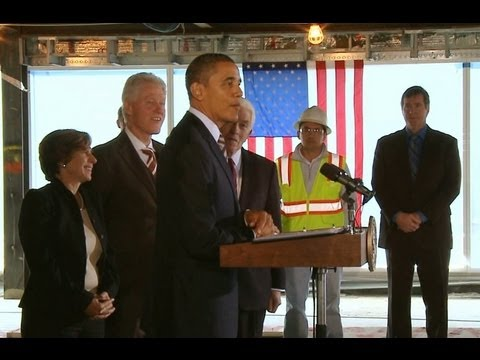 Obama and Clinton speak on better building initiative investments.