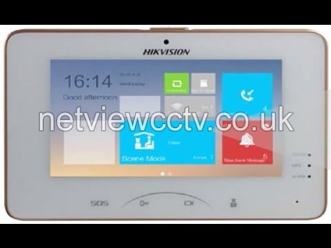 Hikvision DS KH8301-WT Intercom Indoor Station Overview by Netviewcctv.co.uk