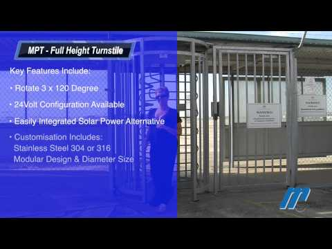 MPT Full Height Turnstile Magnetic Automation