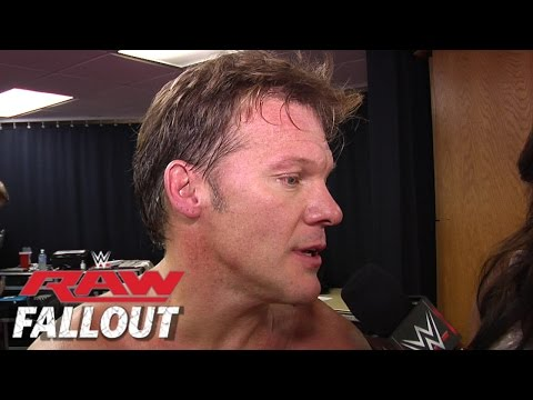 raw - Chris Jericho comments on his win over Kane.