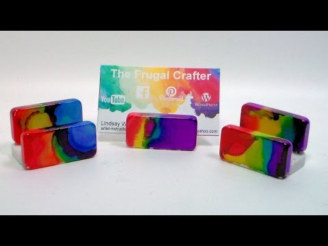 Rainbow Business Card Holder DIY