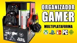 Hoy en TDCSH te enseñamos a hacer un ORGANIZADOR GAMER, un mueble para videojuegos casero, hecho totalmente con...