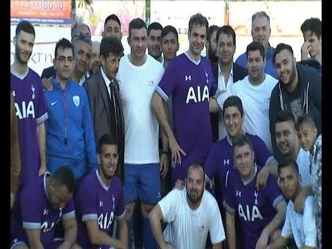 Ποδοσφαιρικός αγώνας μελών της ΝΔ  με την ομάδα της Συνομοσπονδίας Ελλήνων Ρομά