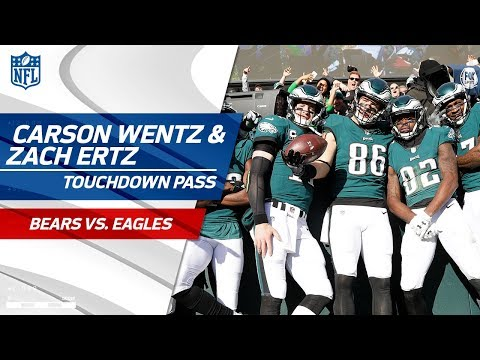 Video: Carson Wentz Fires Big TD Pass to Zach Ertz, Philly Takes the Lead! | Bears vs. Eagles | NFL Wk 12