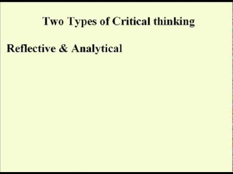 ENG 352 - Technical Writing - 09 - Critical Thinking