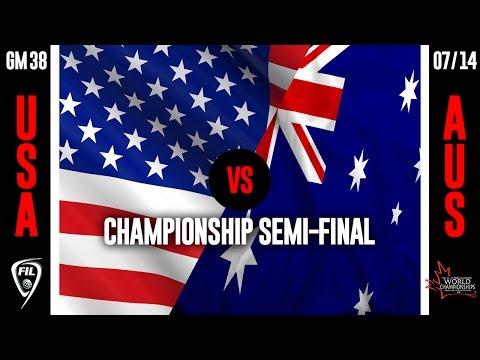 2016 FIL U19 Men's Lacrosse Championship - Day 8 (AUSvUSA)