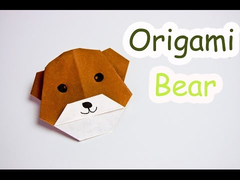 How To Make Origami Bear Face