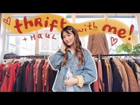 come thrifting with me in london! + try on haul