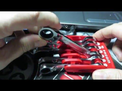 FACOM - Solidaire portatif de clés mixtes bi-inclinées à cliquet courtes [467S.JP6]