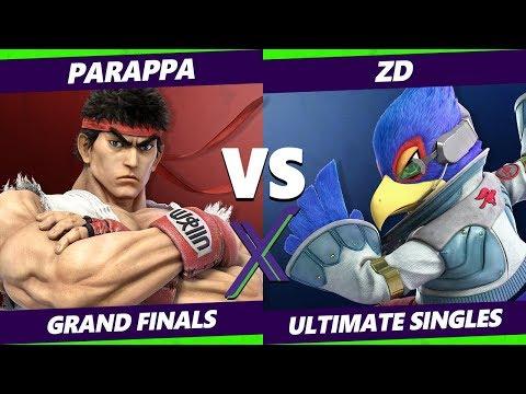 Smash Ultimate Tournament - Parappa (Ryu) Vs. ZD (Falco, Incineroar, Fox) S@X 285 SSBU Grand Finals