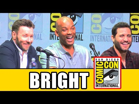 BRIGHT Comic Con Panel News & Highlights - Will Smith, Joel Edgerton, Noomi Rapace (видео)