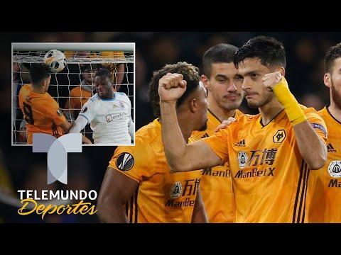 Raúl Jiménez: gol, victoria y los Wolves respiran en la Europa League   Telemundo Deportes