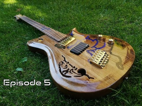 Making a custom fanned fret semi-hollow body guitar - Episode 5 - Sound demo