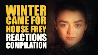 Revenge is a dish best served cold. A compilation of great reactions from awesome fans and reactors for the opening arya stark scene in the Game of Thrones S...