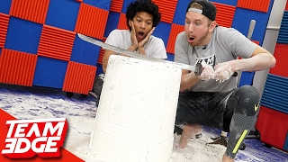 Giant Flour Tower Challenge!! |ft: Marlin