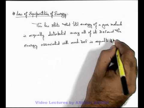 26. Class 11th Physics  | KTG | Degrees of Freedom & Equipartition of Energy | by Ashish Arora (GA)