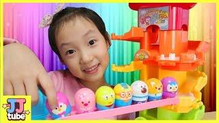 신제품 데굴데굴 뽀로로 레인보우타워 세트 장난감 놀이 Pororo Rainbowtower Toy & Play [제이제이튜브 - JJ tube]