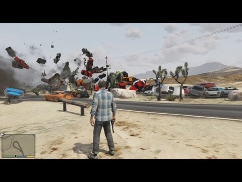 Blowing Up Over 100 Cars in GTA V
