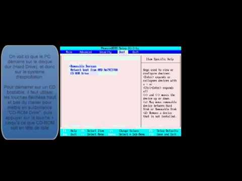 Choisir le périphérique de démarrage pour booter sur CD-DVD, cle USB, autre disque dur