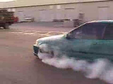 Honda burnout turbo with NOS!!!! then engine blows