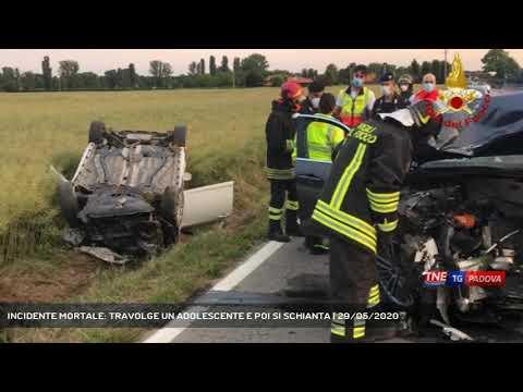 INCIDENTE MORTALE: TRAVOLGE UN ADOLESCENTE E POI SI SCHIANTA   29/05/2020