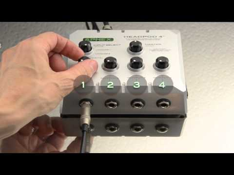 Aphex Headpod 4™ Headphone Amp Presented by KORN's Ray Luzier