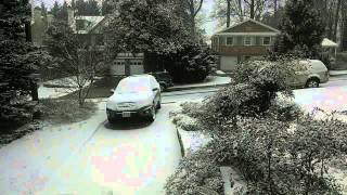 Timelapse of 6 hours of a snow storm in 1 minute 21 seconds.  This was recorded on January 19, 2014 in Bethesda, MD