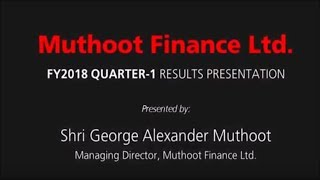 The Muthoot Group is a 130-year-old business house based in India.