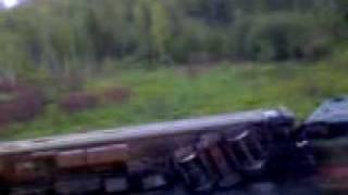 крушение поезда 325