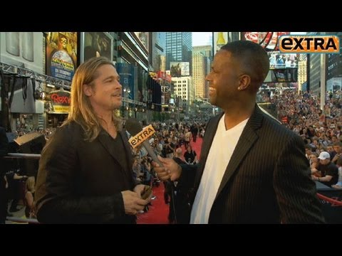Brad Pitt at the NYC Premiere of 'World War Z'