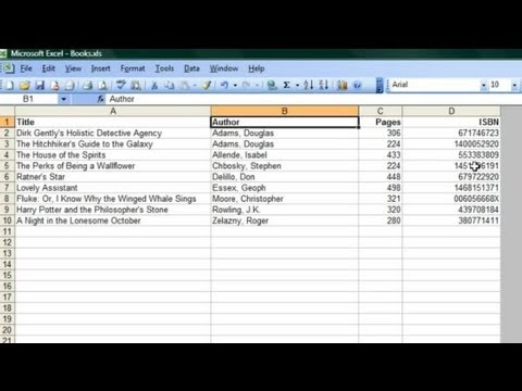 How to Use Microsoft Excel to Catalogue Books : Microsoft Office Software