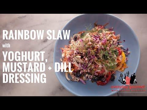BOSCH Rainbow Slaw with Yoghurt, Mustard and Dill Dressing | Everyday Gourmet S6 E1