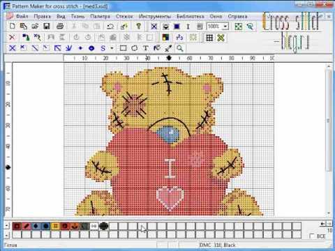 Как создать свою схему для вышивки крестом 110