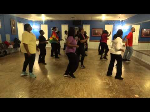 Enuf - Hy N-R-G of Line Dance Fever & Fitness (LDFF) leading the class to the line dance,