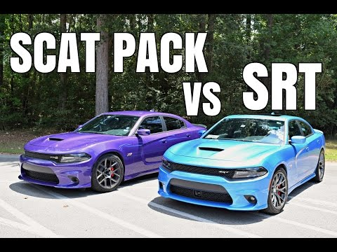 Differences Between The SRT 392 & Scat Pack Dodge Charger (видео)