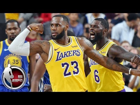 LeBron James posts double-double in Lakers vs Warriors | NBA Preseason Highlights