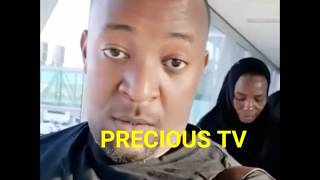 Diamond na mama yake wakielekea msibani Uganda.