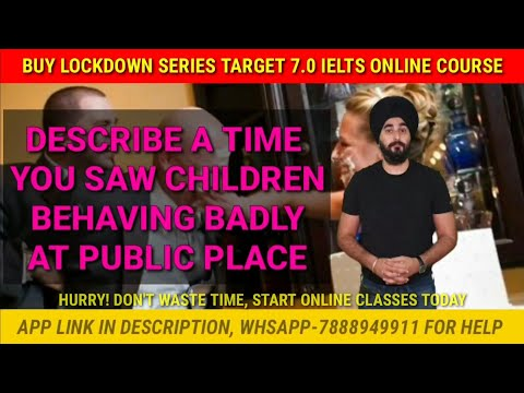A Time You Saw Children Behaving Badly At Public Place | New Cue Card Children Behaving Badly Sample