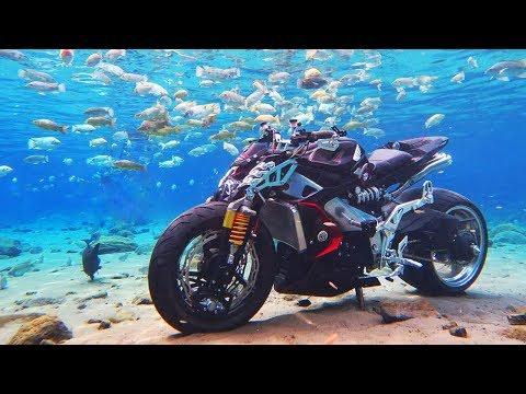 צפו:האופנוע הראשון שעובד מתחת למים