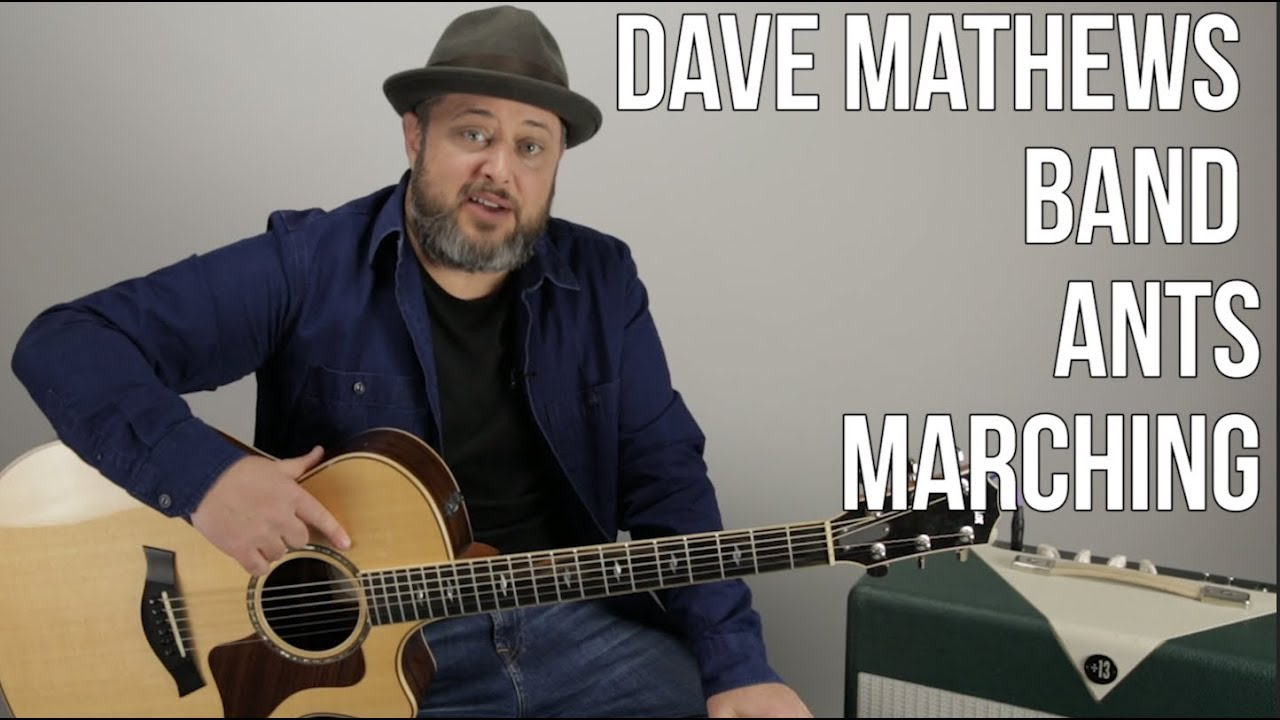 Dave Mathews Band – Ants Marching – Guitar lesson, how to play on Acoustic Guitar