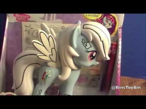 Design-a-Pony RAINBOW DASH Vinyl Figure MLP Review (2013)! by Bin's Toy Bin
