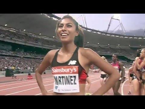 Women's 800 - Martinez wins in near PR - London Diamond League 2013