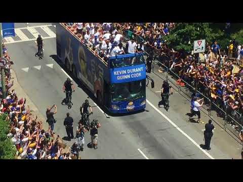 2018 NBA Champions Golden state warriors parade