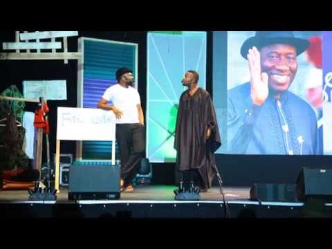 Hillarious!!! Yaw and Okey Bakassi live on stage